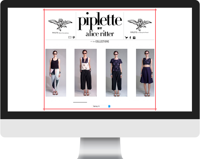 Piplette collections page