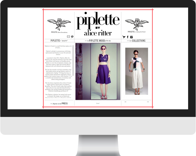 Piplette home page