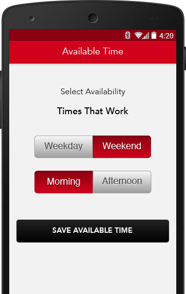 availability time