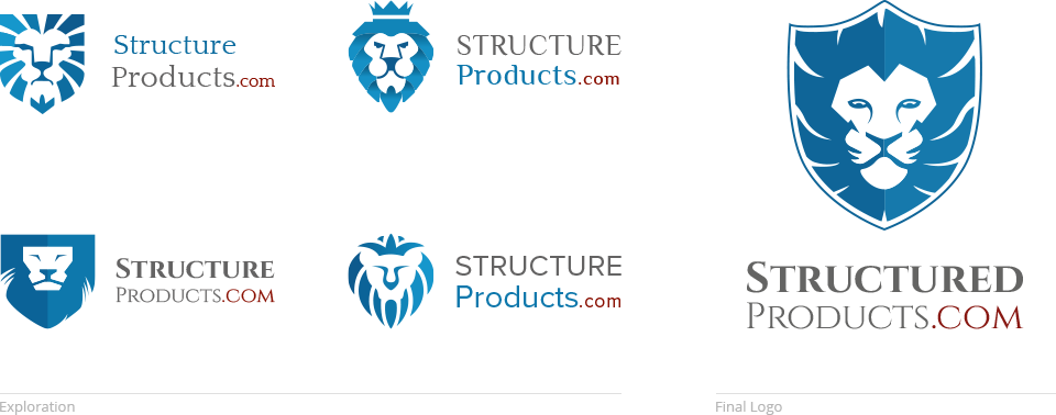 Structured products logo design